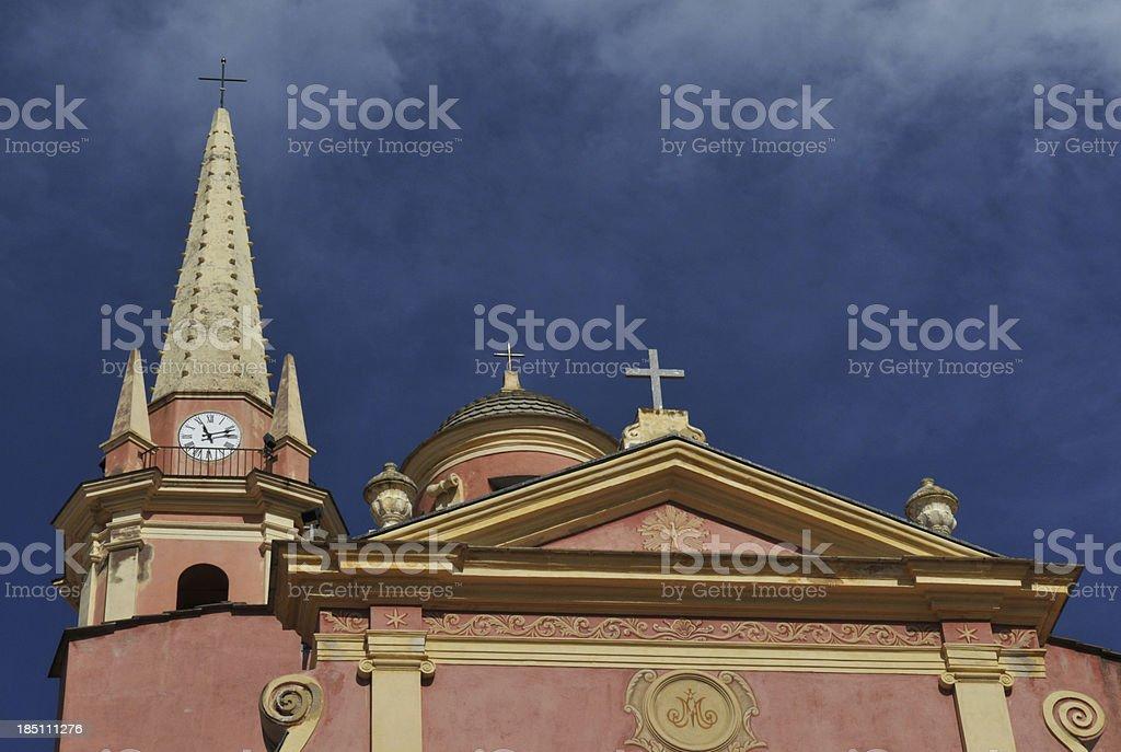 Calvi, Corsica, France, 17th Century Baroque Church stock photo