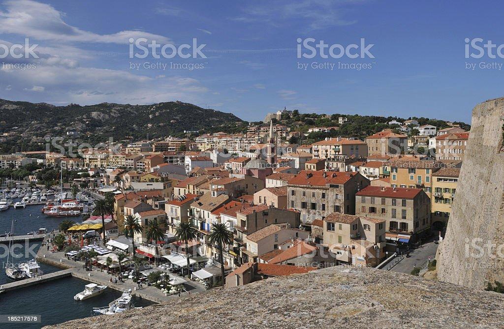 Calvi Harbour, Corsica, France stock photo