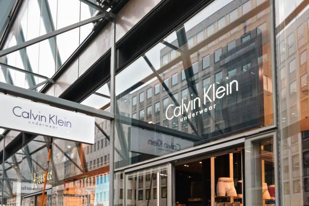 Calvin Klein store entrance at their Oxford Street branch. stock photo