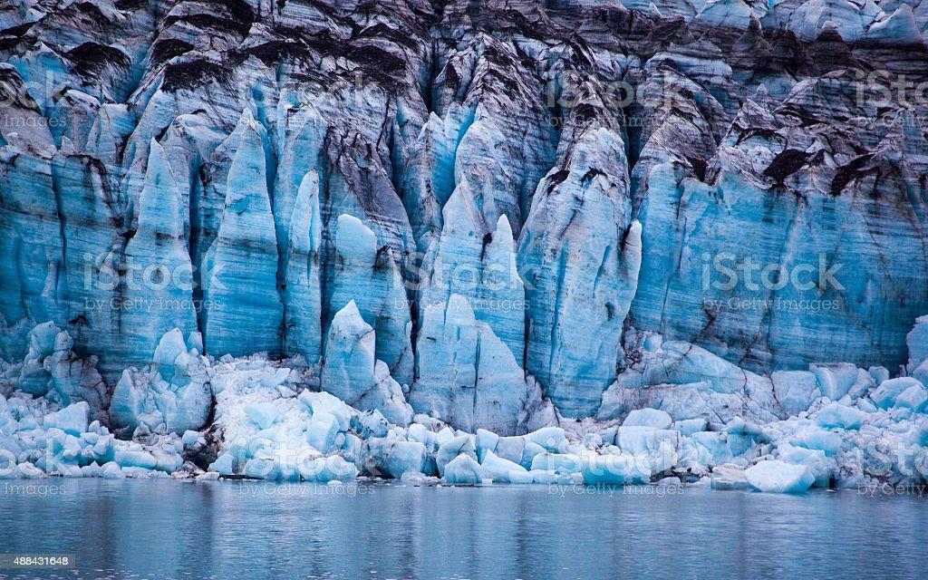 Calving Glacier in Glacier Bay National Park,  Alaska stock photo
