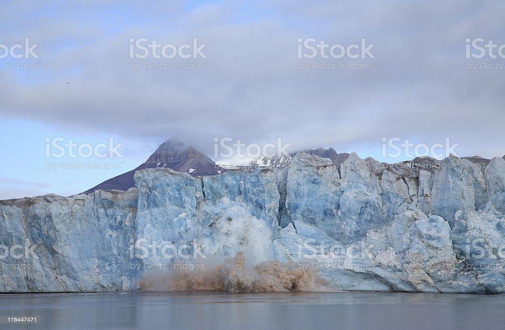 Calving Glacier royalty-free stock photo