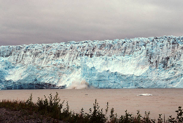 Calving glacier stock photo