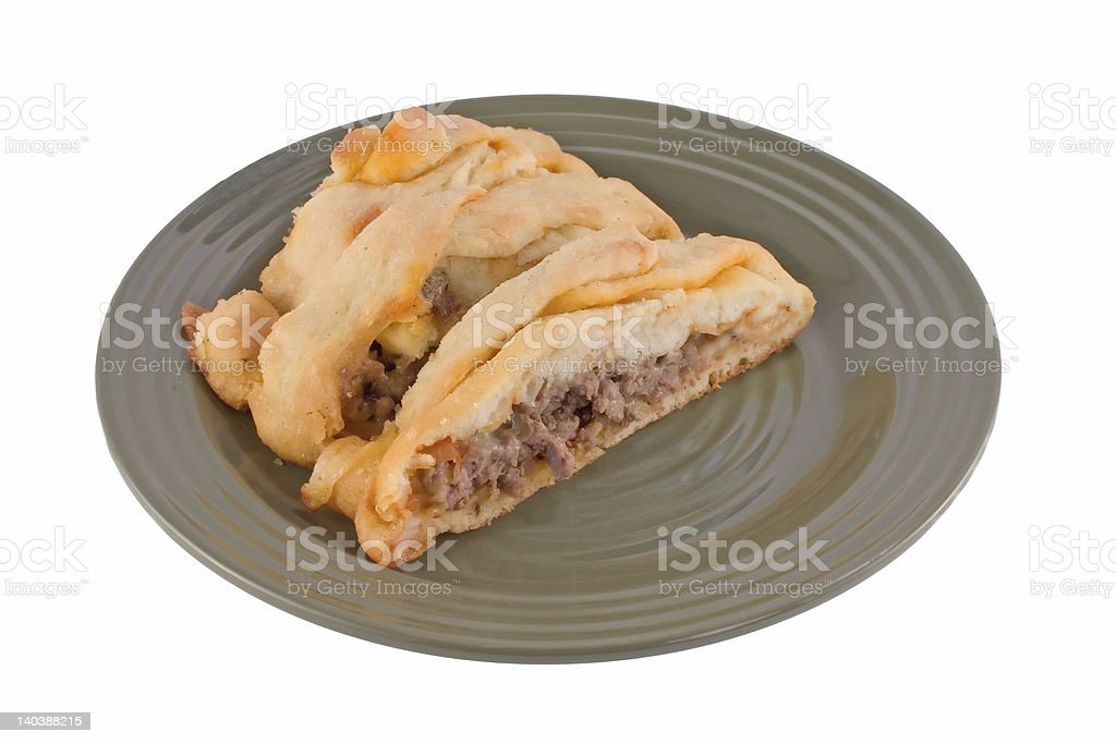 calzone slices royalty-free stock photo