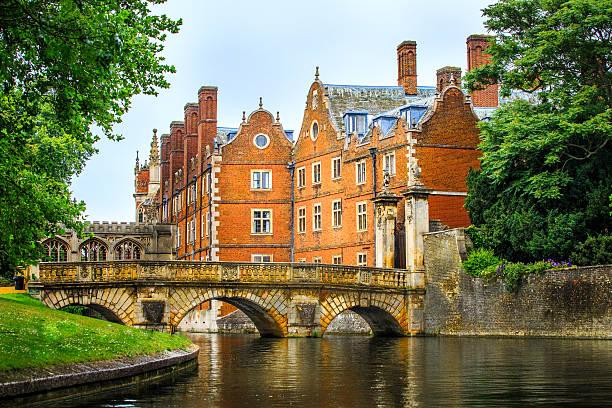 Cam Canal of Cambridge University view, England. – Foto