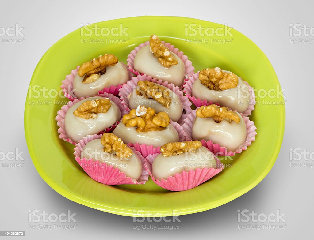 Camafeus Sweet with nuts stock photo