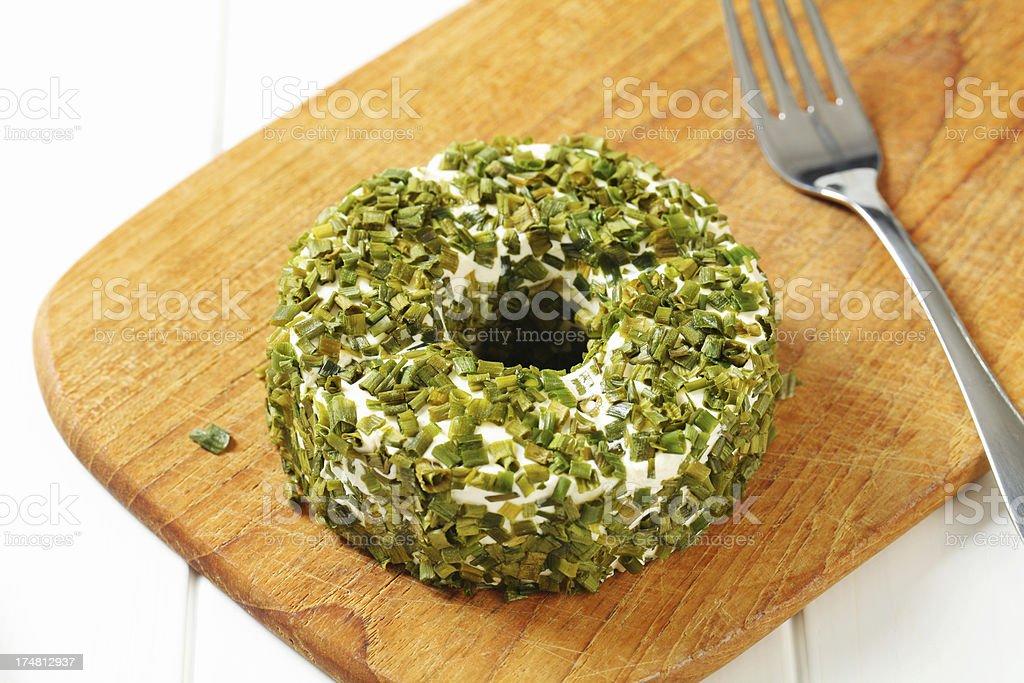 Camambert coated in green pepper royalty-free stock photo
