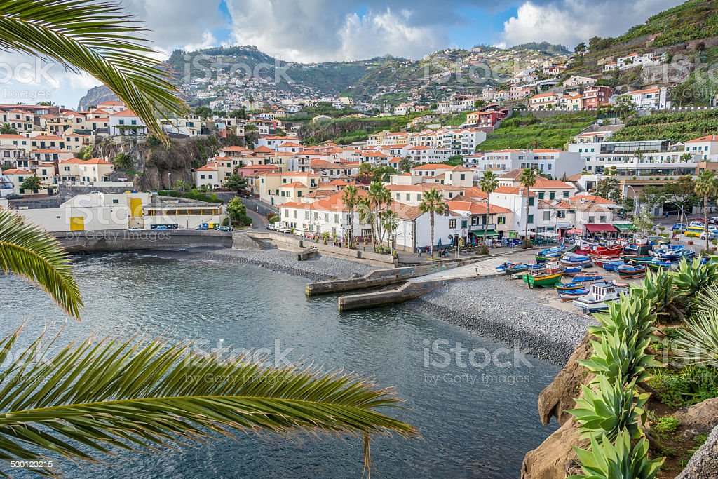 Camara de lobos fishing village - near Funchal, Madeira stock photo