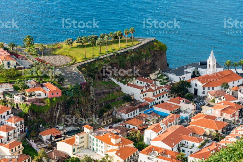 Camara de Lobos - Madeira Island - view to the village stock photo