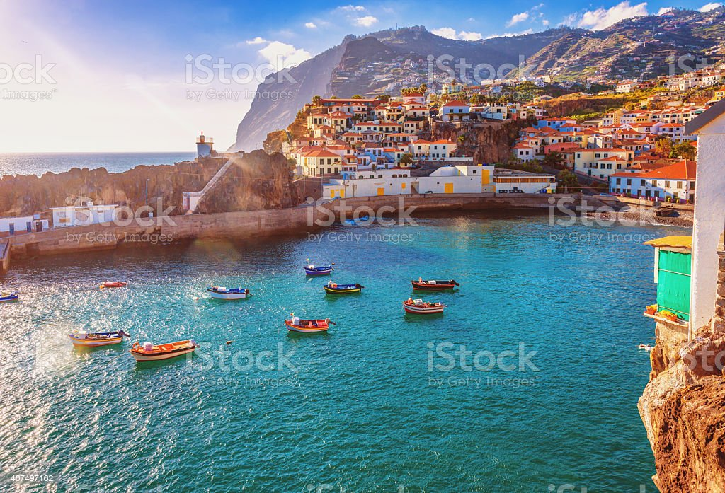 Camara de Lobos - Madeira stock photo
