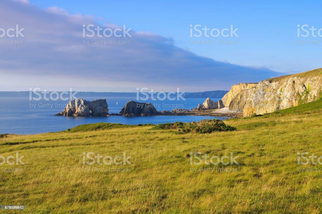 Camaret-sur-Mer coast in Brittany, France stock photo