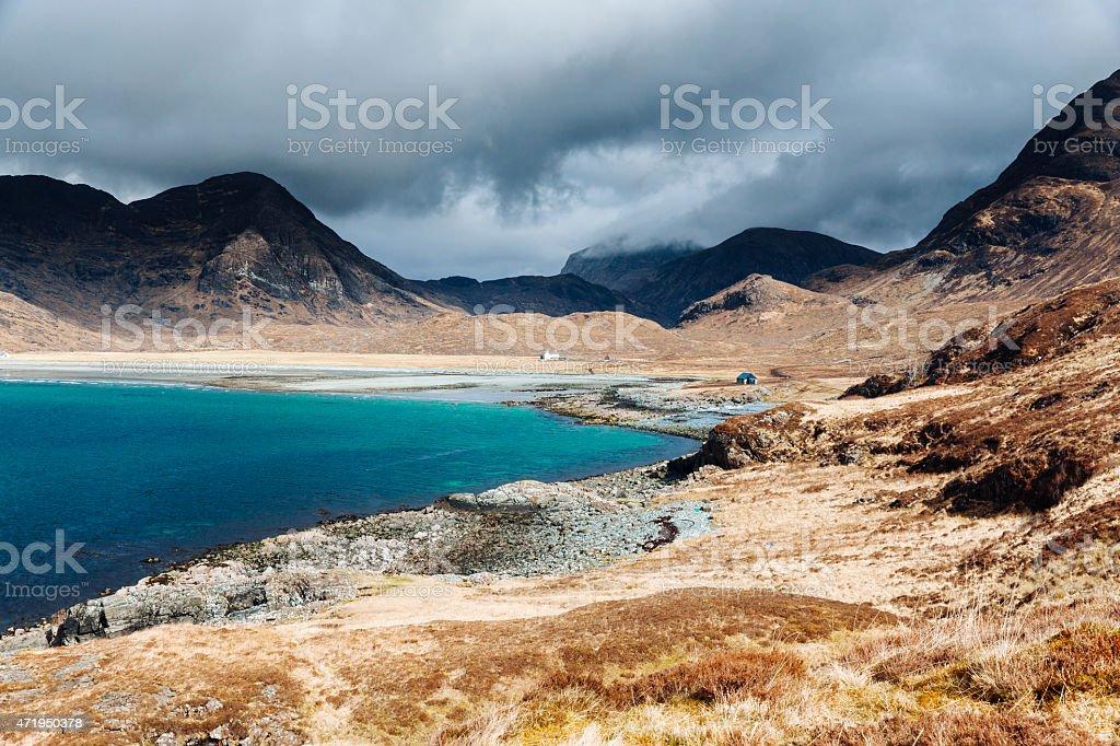 Camasunary Beach, Skye, Scotland stock photo