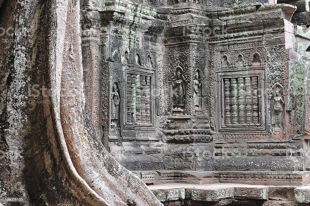 Cambodia Angkor Ta Prohm temple royalty-free stock photo