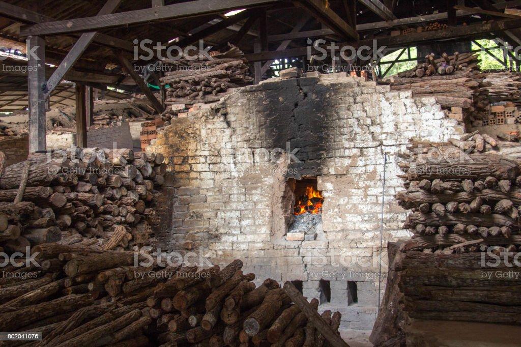 Cambodia: Brick Factory at Kampong Chhnang stock photo