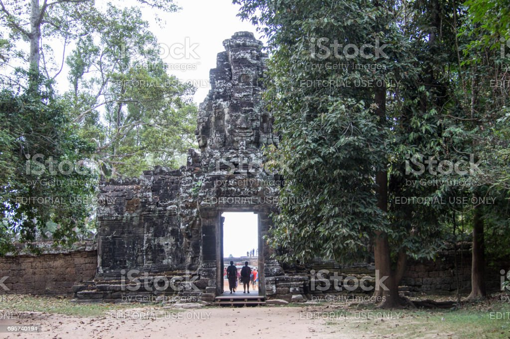 Cambodia: East Gate to the Banteay Kdei Temple stock photo