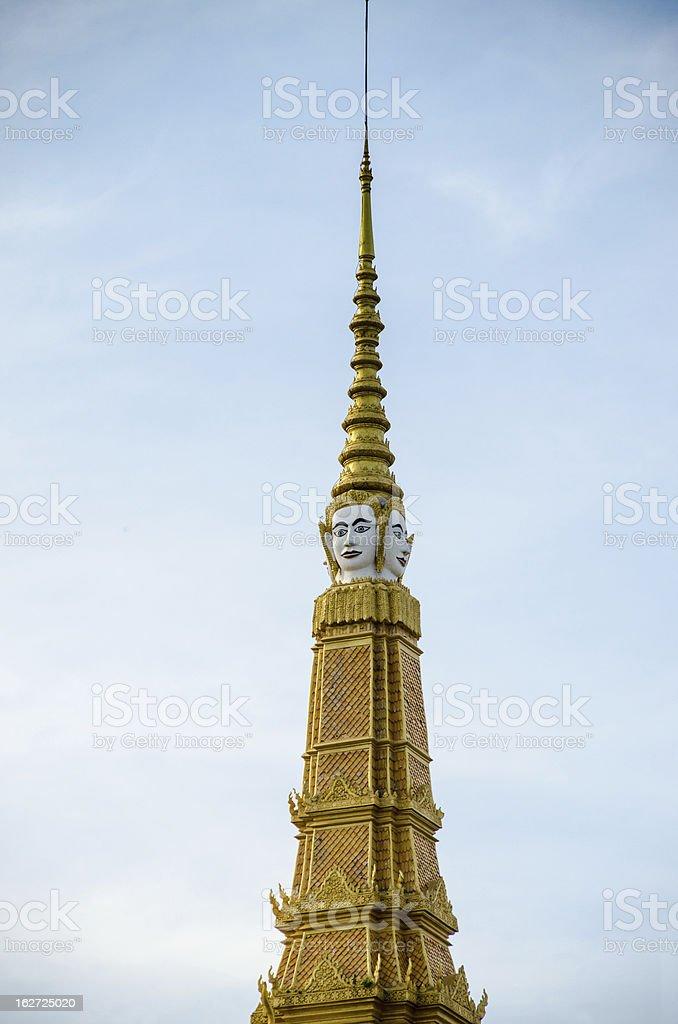 Cambodia, Phnom Penh, Wat Preah Keo Complex royalty-free stock photo