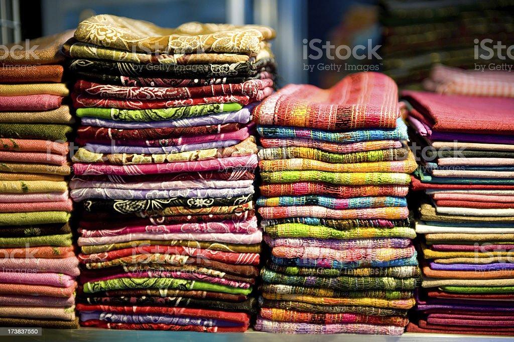 Cambodia : Scarves Textile stock photo