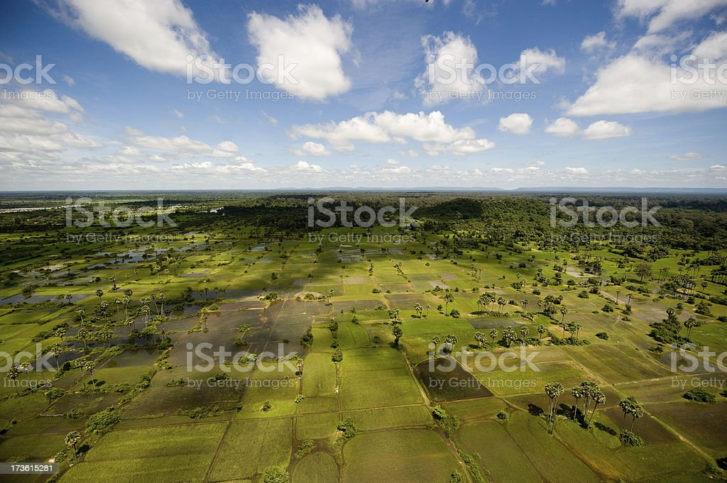 Cambodia : Siem Reap Landscape royalty-free stock photo