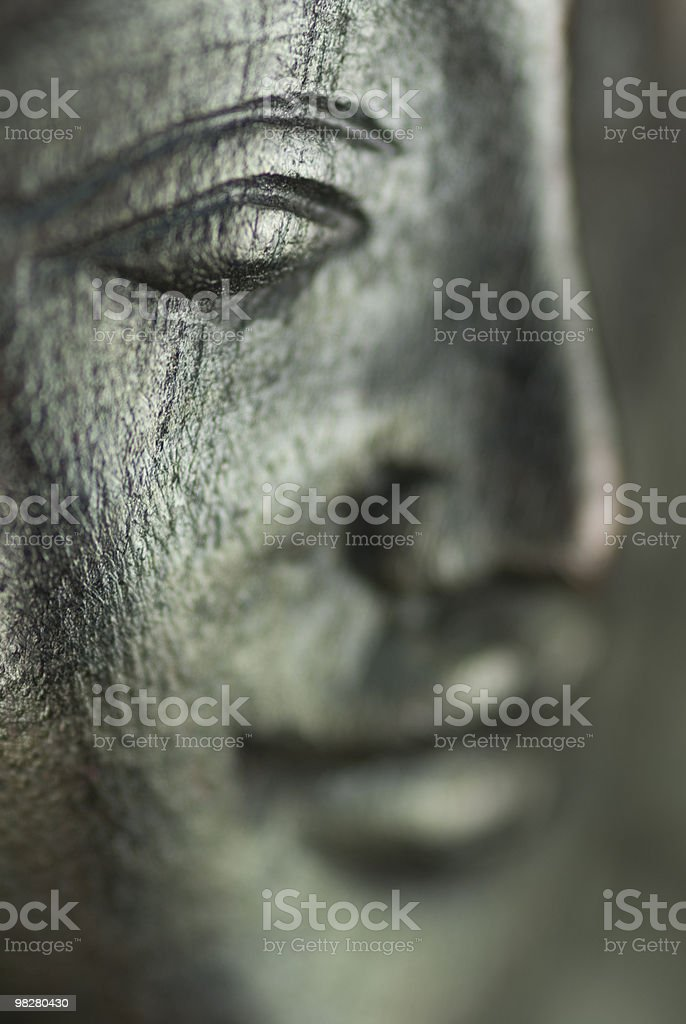 Cambodian Apsara Wood Carving royalty-free stock photo