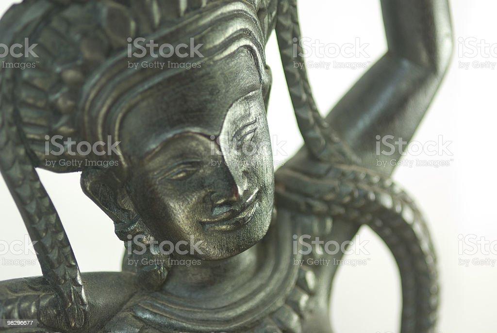 Cambodian Apsara Wood Carving royalty-free stock photo