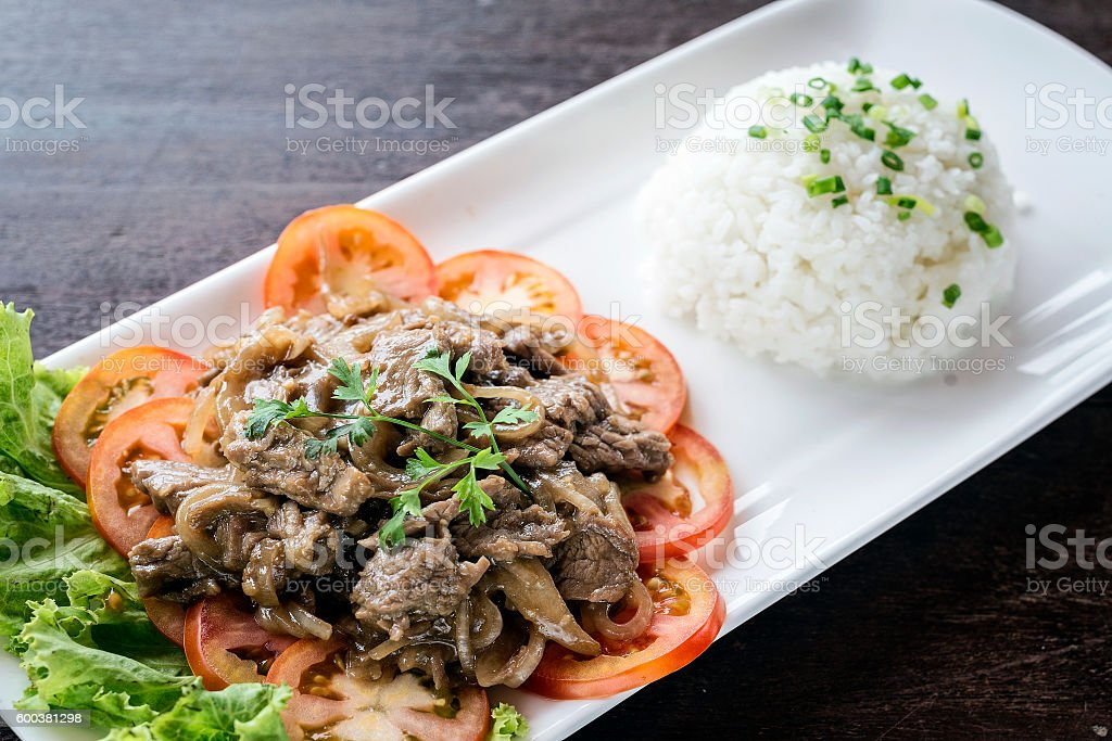 cambodian beef lok lak traditional khmer food stock photo
