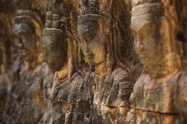 Cambodian faces stock photo
