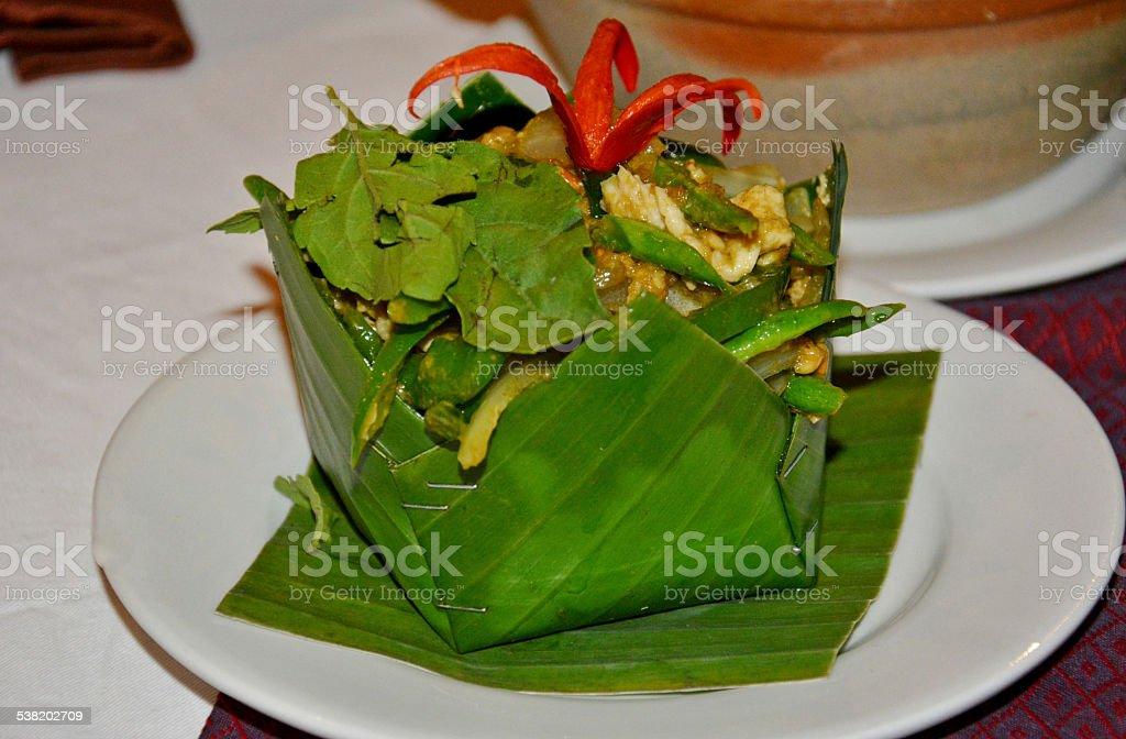Cambodian Food, Amok (dish) stock photo