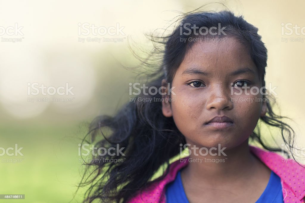 Cambodian girl portrait royalty-free stock photo