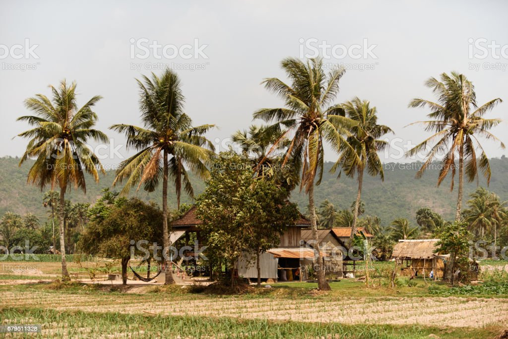 Cambodian rural countryside landscape royalty-free stock photo