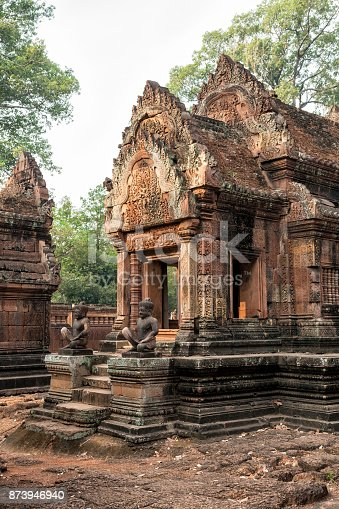 Ancient Cambodian temple Banteay Srei (Pink Templ)