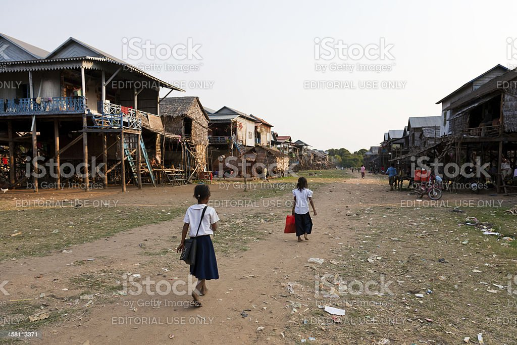Cambodian village royalty-free stock photo