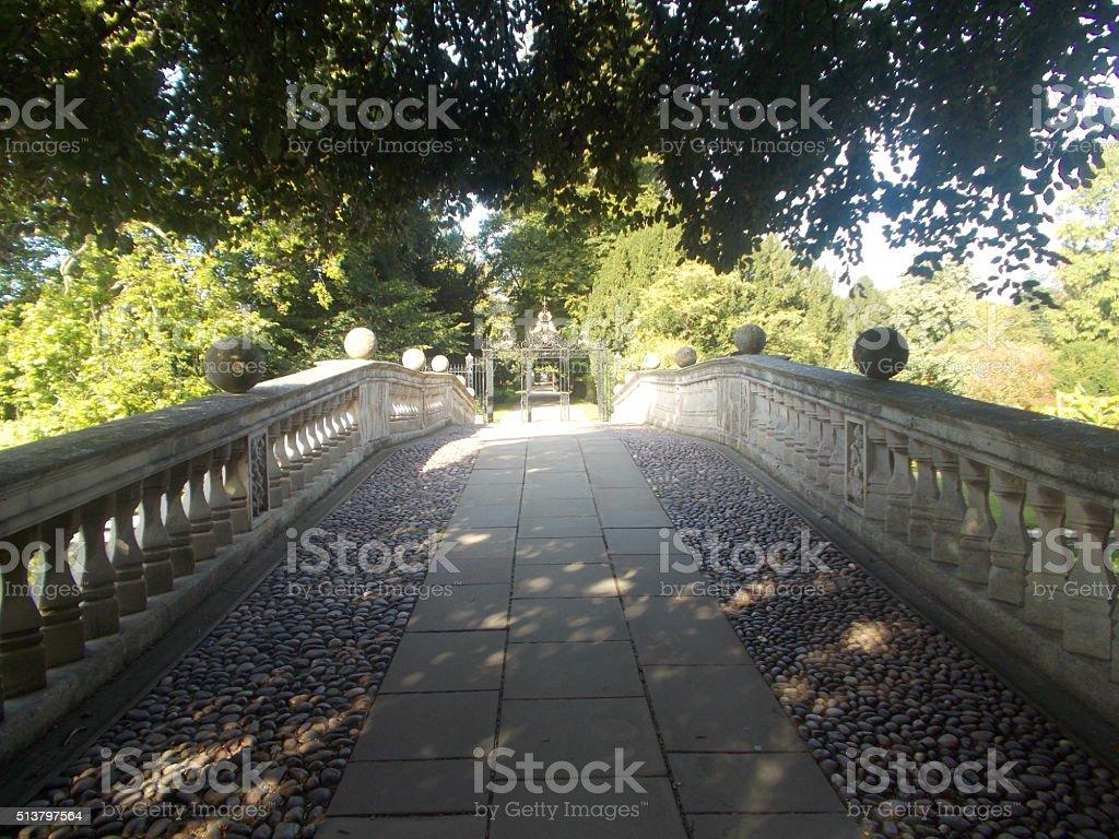 cambridge - bridge and nature stock photo