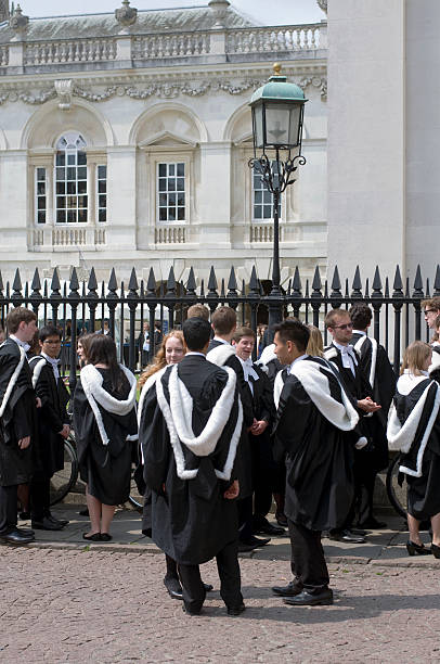 cambridge graduation - cambridge university stock photos and pictures