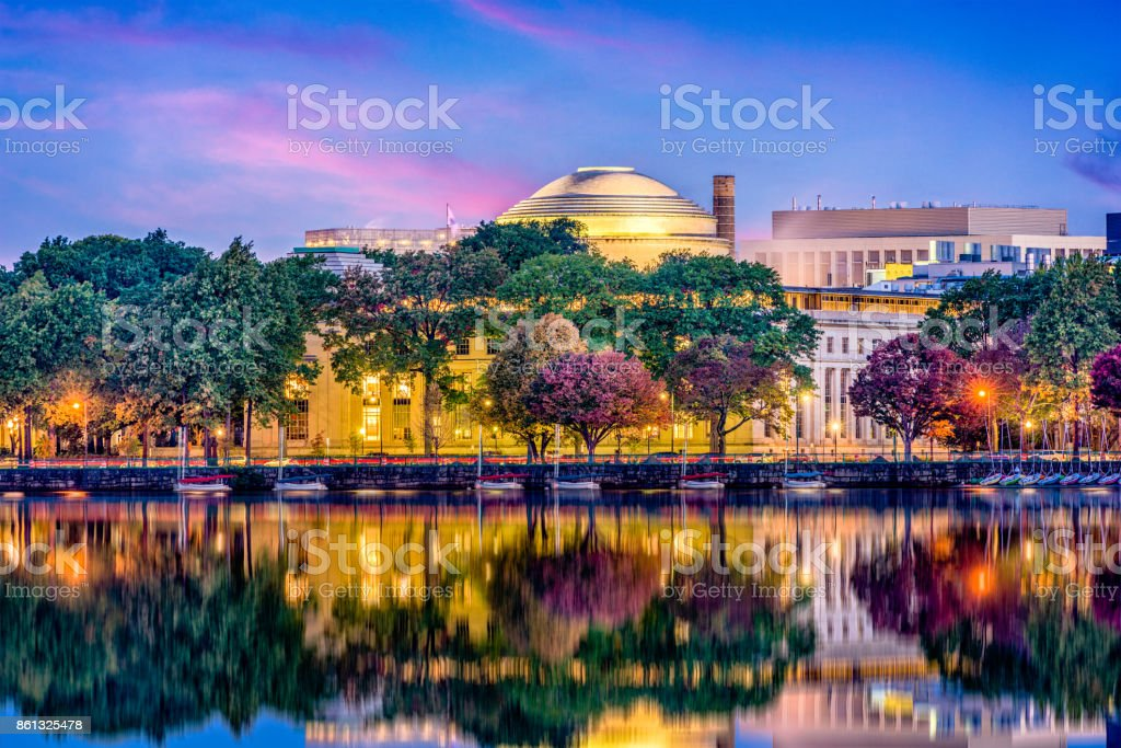 Cambridge Massachusetts Skyline stock photo
