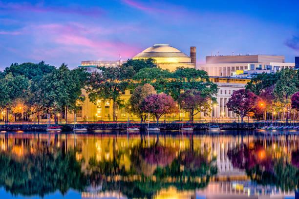 Cambridge Massachusetts Skyline Cambridge, Massachusetts, USA skyline at twilight. harvard university stock pictures, royalty-free photos & images