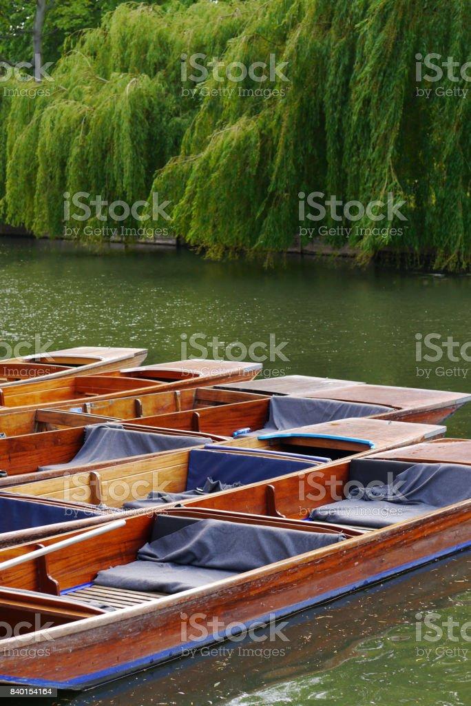 Cambridge punts stock photo