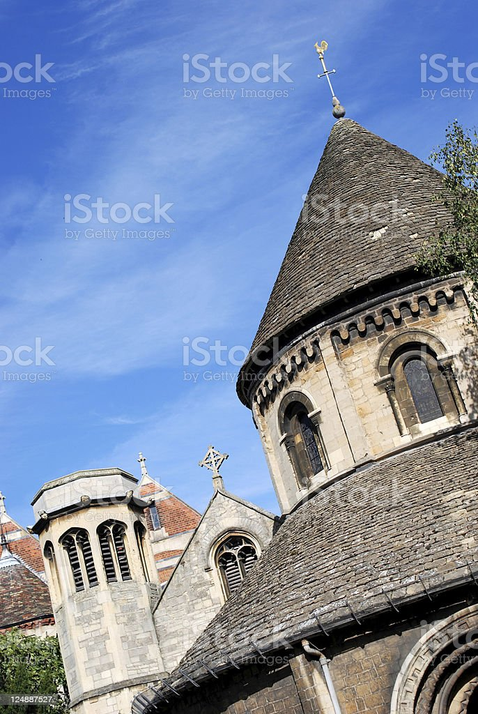 Cambridge roofs royalty-free stock photo