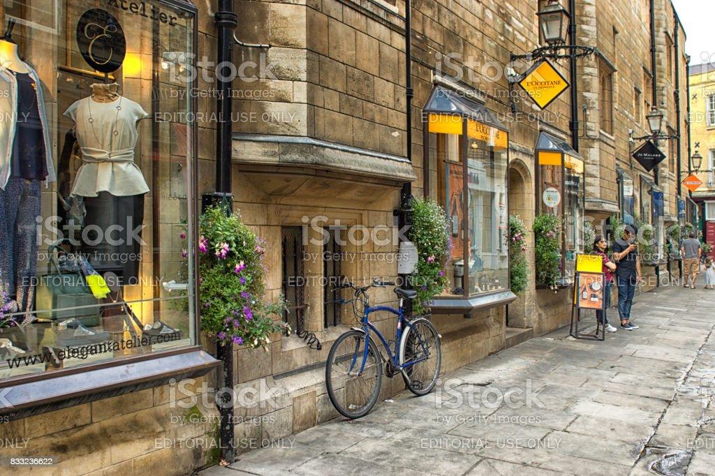 Cambridge shopping stock photo