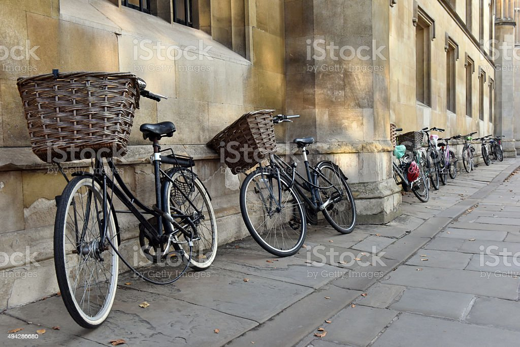 Cambridge University Bicycles stock photo