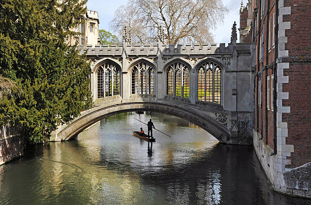 cambridge university bridge - cambridge university stock photos and pictures