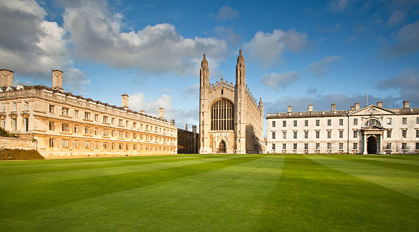 cambridge university kings college chapel - cambridge university stock photos and pictures