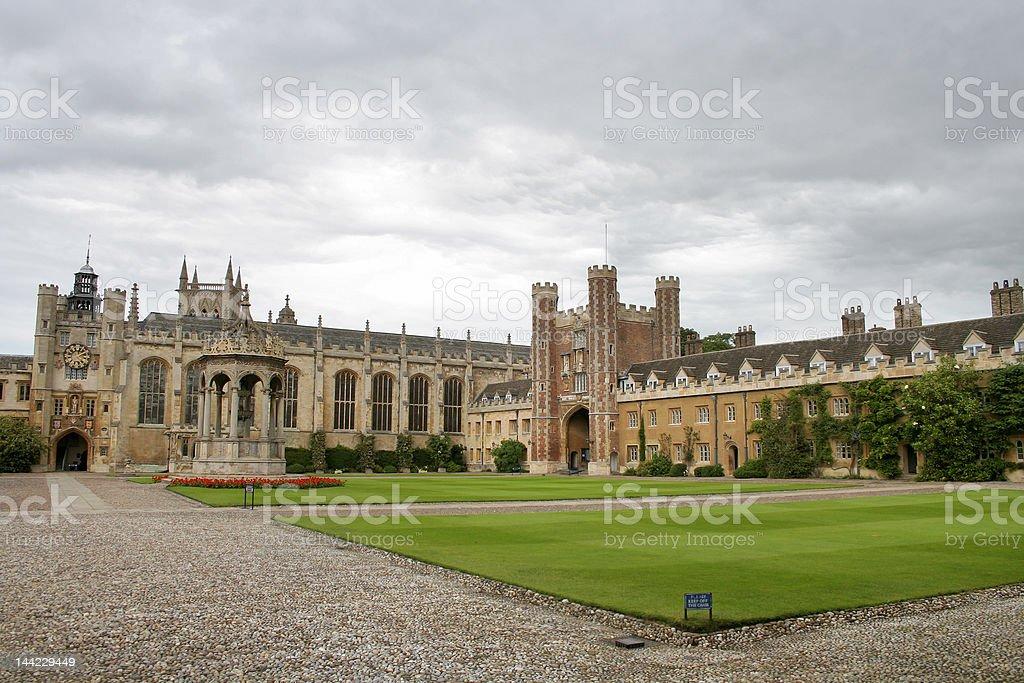 Cambridge University royalty-free stock photo