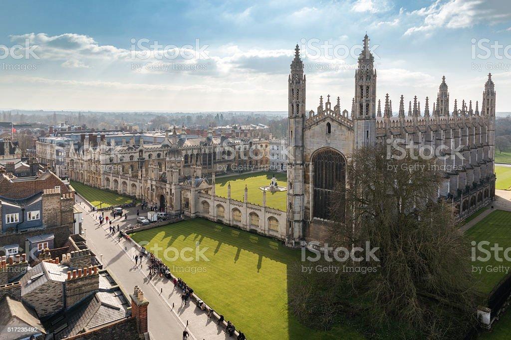 Université de Cambridge vue supérieure - Photo