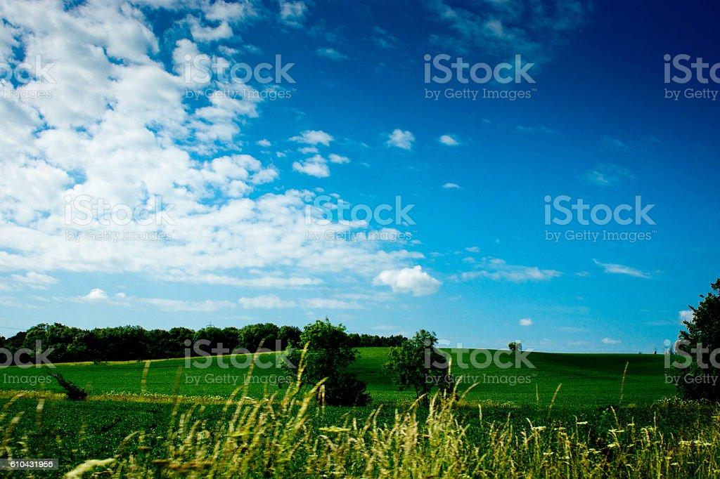 Cambridgeshire countryside stock photo