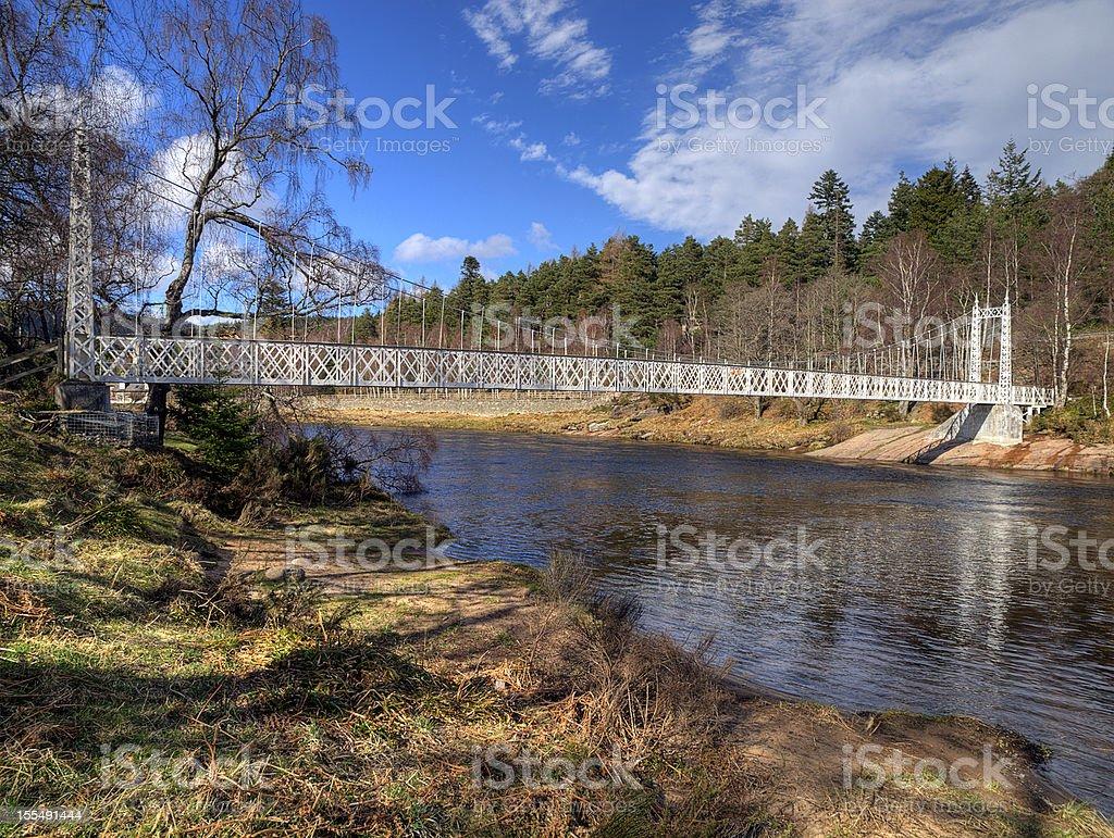 Cambus O'May Suspension Bridge, Deeside, Scotland royalty-free stock photo