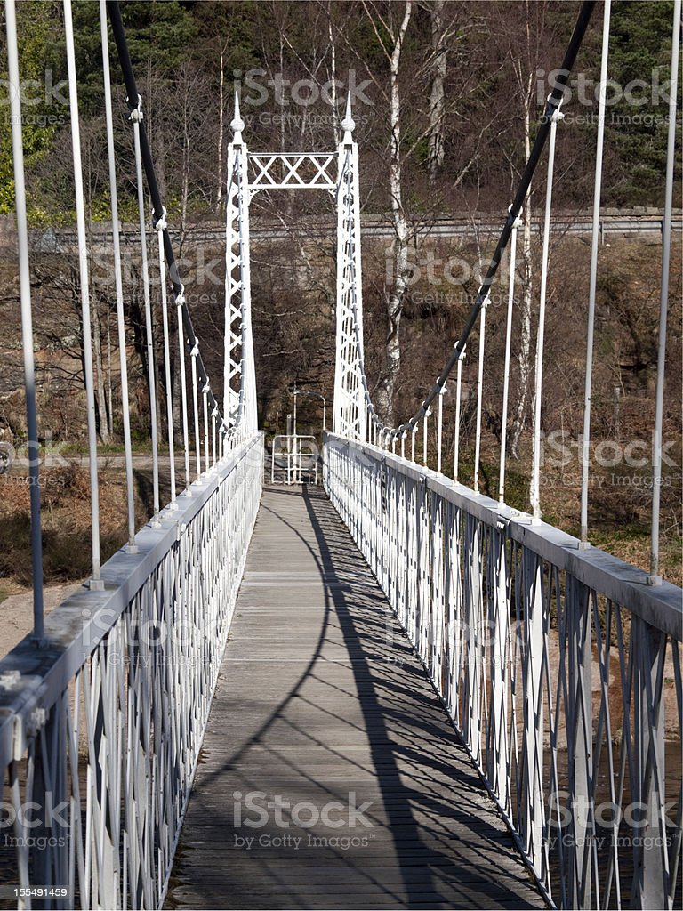 Cambus O'May Suspension Bridge, Deeside, Scotland royalty-free stock photo