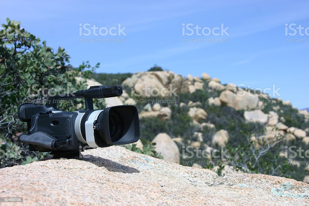 camcorder in wilderness royalty-free stock photo