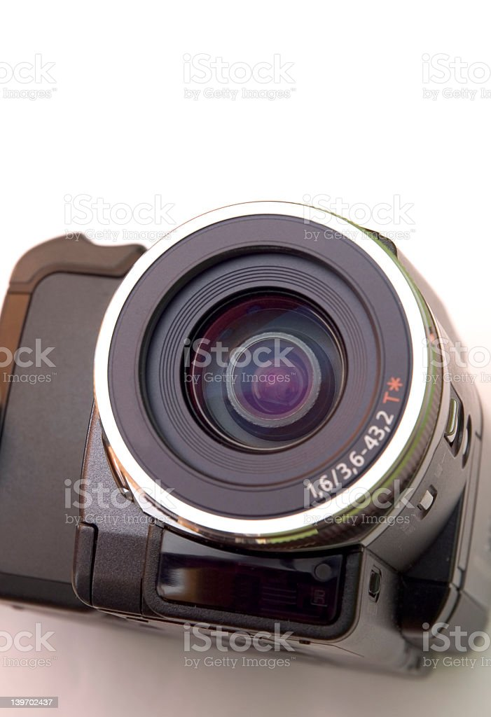 camcorder lens royalty-free stock photo