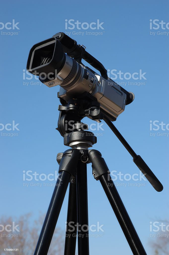 Camcorder on a Tripod 1 stock photo