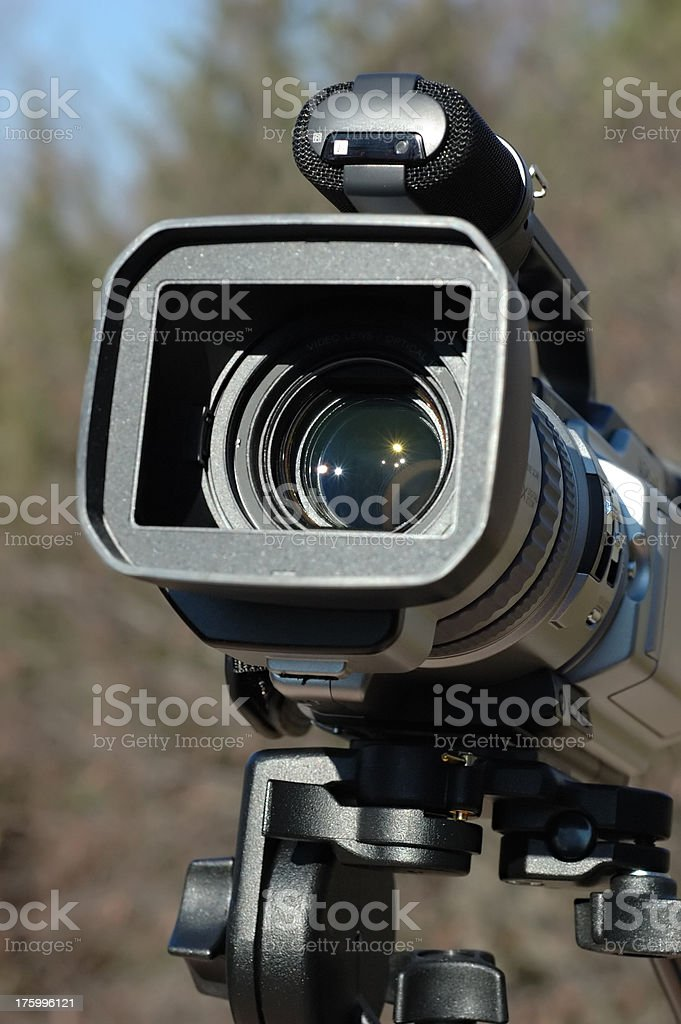 Camcorder on Pan-Tilt Head 3 royalty-free stock photo