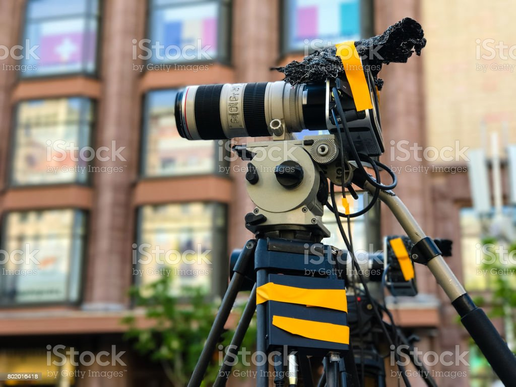 Camcorder Professional video equipment for camera photography stock photo
